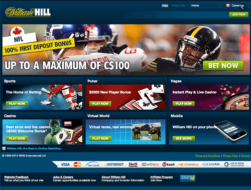 William Hill Sportsbook Canada